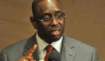 Senegal's opposition presidential candidate Macky Sall speaking at a press conference on February 29, 2012 in the capital Dakar.