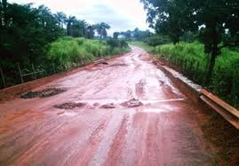The Road Leading to Kono in A Bad Shape