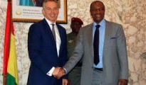 Tony Blair with Alpha Conde, the president of Guinea Photo