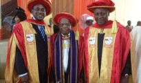 Dr. Yumkella with two other recipients, Vice President of Ghana Dr John Dramani Mahamand and Professor Emeritus and former Vice Chancellor, University of Ibadan, Prof. Tekena Nitonye Tamuna