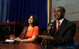 Dr. Yumkella and Minister of Industry and Productivity during the Press Conference