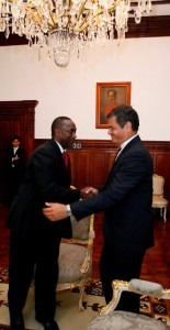 UNIDO DG Yumkella departs the palace