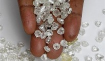 A handful of rough diamonds (file photo)