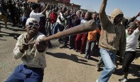 Anti-poverty protests in South Africa.