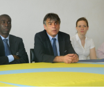 A three-man FIFA delegation that visited Sierra Leone earlier this year -(March 2012)