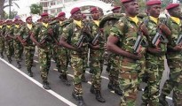 The Congolese Army soldiers