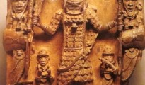 Plaque of Oba Ozolua with warrior attendants, Benin, Nigeria, Ethnology Museum, Vienna.