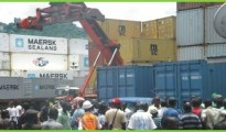 Container Section in Freetown, Sierra Leone