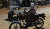 A motorbike taxi waits for a passenger in Kenya's western town of Kisumu, 350 km (218 miles) from the capital Nairobi