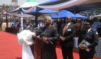"""Tribute by President Dr. Ernest Bai Koroma during the Funeral Ceremony For the Late Alhaji Dr. Ahmad Tejan Kabbah, Former President of the Republic of Sierra Leone on March 23, 2014 at the National Stadium, Brookfields, Freetown."""
