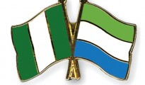 From left:-National Flags of Nigeria and Sierra Leone (file photo)