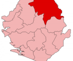 Koinadugu district shown in red. (File photo)