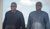 (From Left-Right):President John Dramani Mahama of Ghana, President Ernest Bai Koroma of Sierra Leone