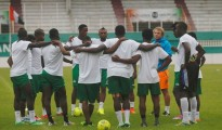 Sierra Leone's national team at a training session in Abidjan
