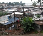 A slum in Freetown, Sierra Leone.