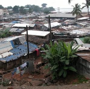 A slum in Freetown, Sierra Leone.