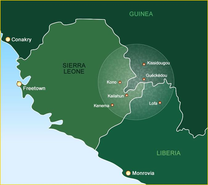 The Mano River border region between Guinea, Liberia and Sierra Leone