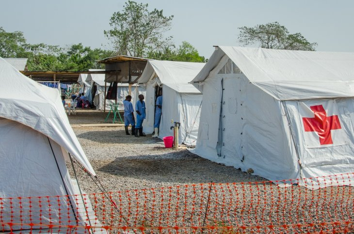 Red Cross Ebola treatment center in Kenema, near the government hospital