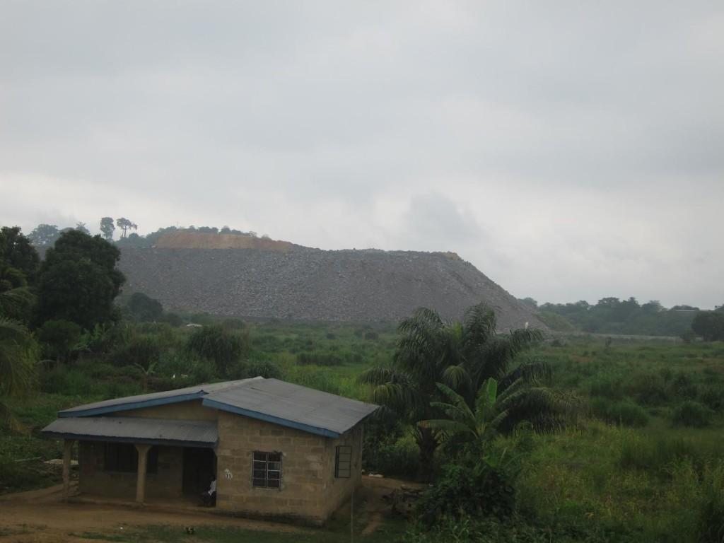 A diamond mining pit in Kono district in Sierra Leone