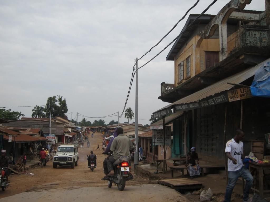 A street in Koidu in Kono district