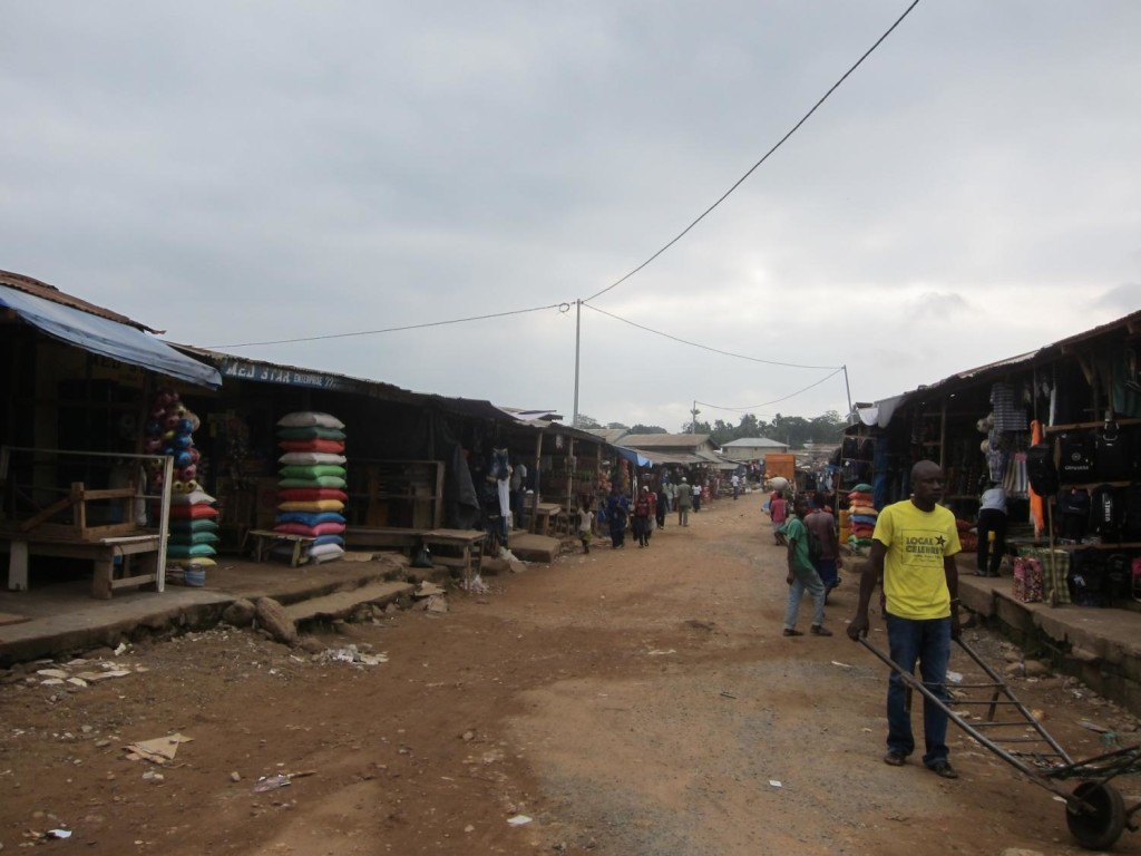 Koidu's main market. Mining companies do not contribute much of their spending to the local market and local businesses.