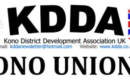 Sierra Leone:- KDDA-UK and Kono Union USA Press Release