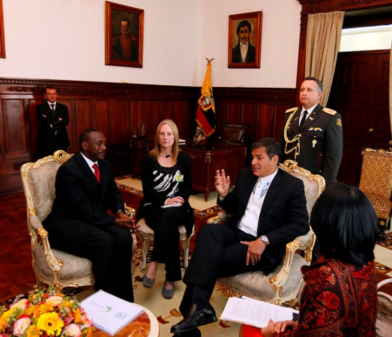 "UNIDO DG Yumkella announces $2.5 million support to Ecuador's sustainable industrialization development initiatives: Receives ""Key to the City"" of Quito"