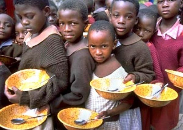 Many stomachs are empty, even though Africa's Economy is growing.
