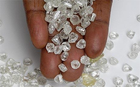 Stock Of The Diamond Mining Company In The Sewa River Of