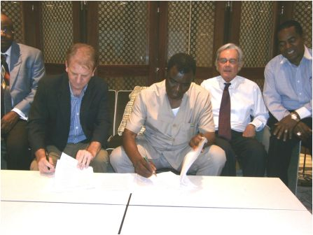 Trade Minister Signs $180M Agreement with FIRST STEP, for a Steel Manufacturing & Semi Captive Power Plant in Sierra Leone.