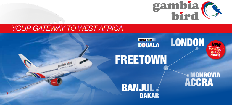 Gambia Bird begins London to Freetown air service
