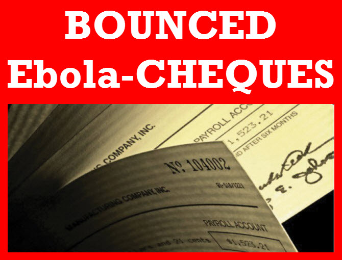 SIERRA LEONE:- Organisations and Individuals that gave BOUNCED-EBOLA-CHEQUES to President Koroma at state house must return ALL photographs not later than Tuesday 17th February, 2015 (PRESS-RELEASE).