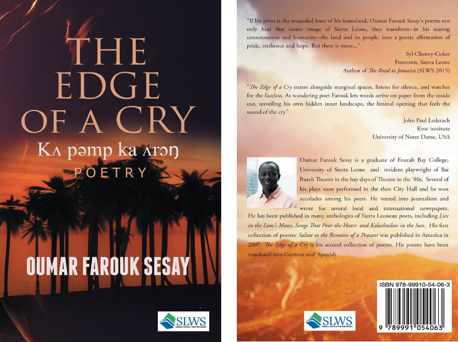 """Sierra Leone:- TWO newly Published books  Titled """"The Edge"""
