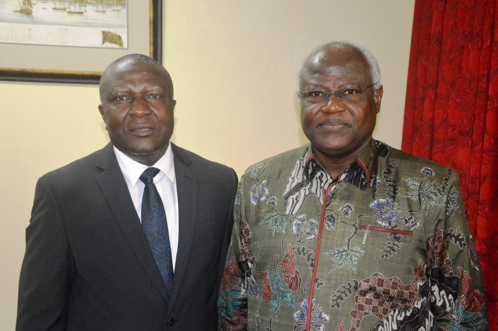 From LEFT:-Chief Justice Abdulai Hamid Charm and President Koroma